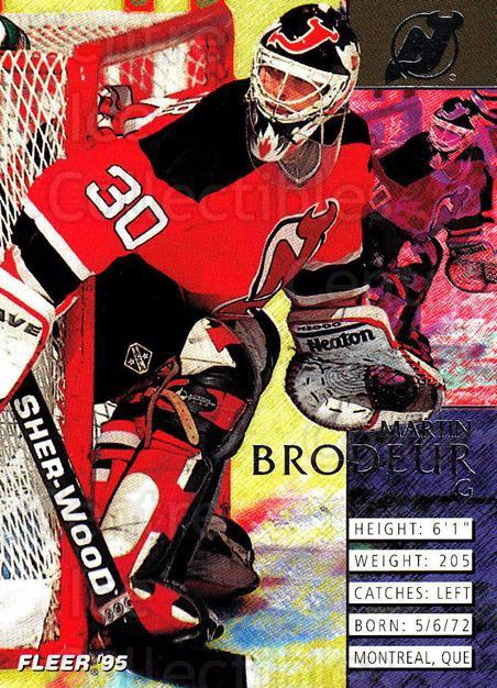 1994-95 Fleer #111 Martin Brodeur<br/>3 In Stock - $2.00 each - <a href=https://centericecollectibles.foxycart.com/cart?name=1994-95%20Fleer%20%23111%20Martin%20Brodeur...&price=$2.00&code=231727 class=foxycart> Buy it now! </a>
