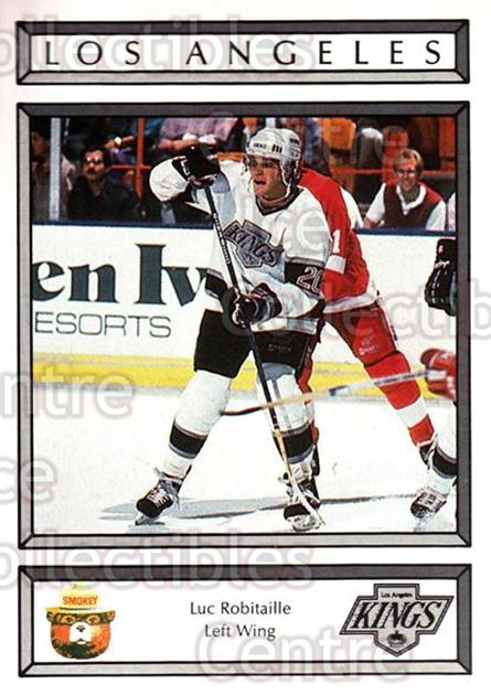 1988-89 Los Angeles Kings Smokey #21 Luc Robitaille<br/>5 In Stock - $3.00 each - <a href=https://centericecollectibles.foxycart.com/cart?name=1988-89%20Los%20Angeles%20Kings%20Smokey%20%2321%20Luc%20Robitaille...&quantity_max=5&price=$3.00&code=23173 class=foxycart> Buy it now! </a>