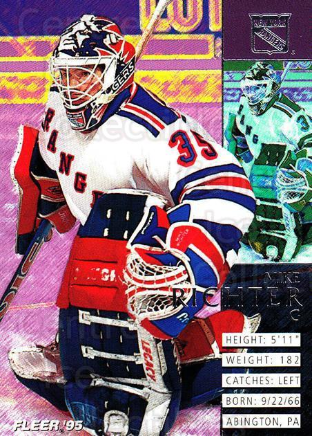 1994-95 Fleer #139 Mike Richter<br/>3 In Stock - $1.00 each - <a href=https://centericecollectibles.foxycart.com/cart?name=1994-95%20Fleer%20%23139%20Mike%20Richter...&quantity_max=3&price=$1.00&code=231755 class=foxycart> Buy it now! </a>