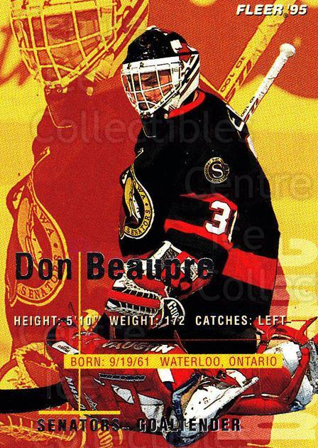 1994-95 Fleer #141 Don Beaupre<br/>4 In Stock - $1.00 each - <a href=https://centericecollectibles.foxycart.com/cart?name=1994-95%20Fleer%20%23141%20Don%20Beaupre...&quantity_max=4&price=$1.00&code=231757 class=foxycart> Buy it now! </a>