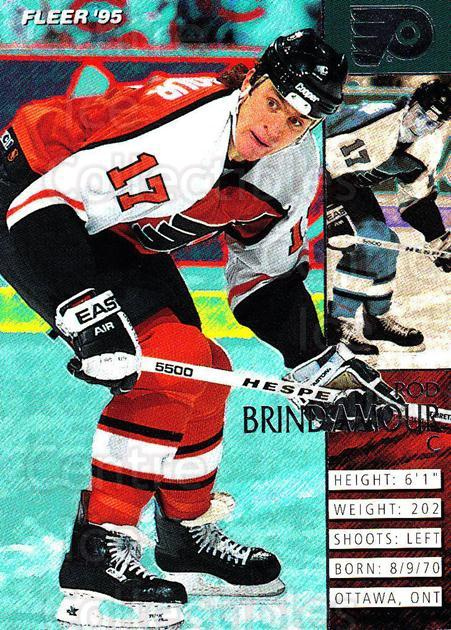 1994-95 Fleer #150 Rod Brind'Amour<br/>3 In Stock - $1.00 each - <a href=https://centericecollectibles.foxycart.com/cart?name=1994-95%20Fleer%20%23150%20Rod%20Brind'Amour...&quantity_max=3&price=$1.00&code=231766 class=foxycart> Buy it now! </a>
