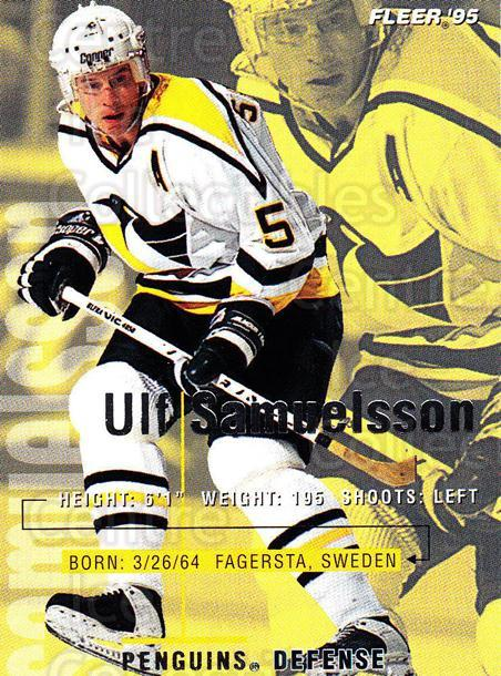 1994-95 Fleer #168 Ulf Samuelsson<br/>4 In Stock - $1.00 each - <a href=https://centericecollectibles.foxycart.com/cart?name=1994-95%20Fleer%20%23168%20Ulf%20Samuelsson...&quantity_max=4&price=$1.00&code=231784 class=foxycart> Buy it now! </a>