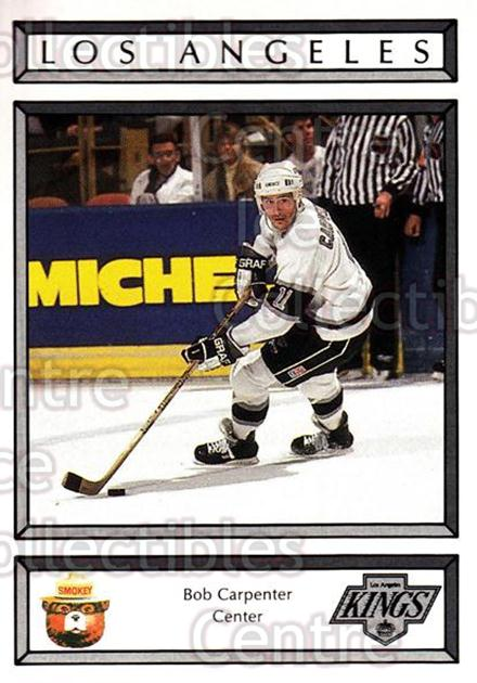 1988-89 Los Angeles Kings Smokey #3 Bob Carpenter<br/>2 In Stock - $3.00 each - <a href=https://centericecollectibles.foxycart.com/cart?name=1988-89%20Los%20Angeles%20Kings%20Smokey%20%233%20Bob%20Carpenter...&quantity_max=2&price=$3.00&code=23178 class=foxycart> Buy it now! </a>