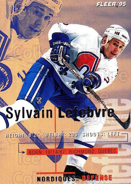 1994-95 Fleer #180 Sylvain Lefebvre<br/>5 In Stock - $1.00 each - <a href=https://centericecollectibles.foxycart.com/cart?name=1994-95%20Fleer%20%23180%20Sylvain%20Lefebvr...&quantity_max=5&price=$1.00&code=231796 class=foxycart> Buy it now! </a>