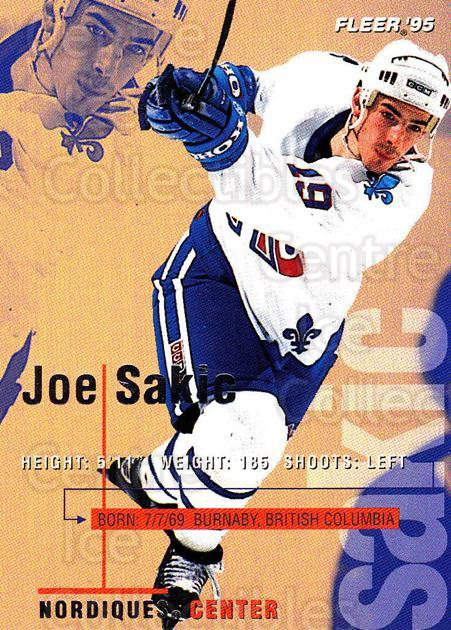 1994-95 Fleer #183 Joe Sakic<br/>5 In Stock - $1.00 each - <a href=https://centericecollectibles.foxycart.com/cart?name=1994-95%20Fleer%20%23183%20Joe%20Sakic...&price=$1.00&code=231799 class=foxycart> Buy it now! </a>