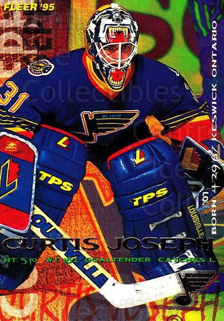 1994-95 Fleer #188 Curtis Joseph<br/>4 In Stock - $1.00 each - <a href=https://centericecollectibles.foxycart.com/cart?name=1994-95%20Fleer%20%23188%20Curtis%20Joseph...&quantity_max=4&price=$1.00&code=231804 class=foxycart> Buy it now! </a>