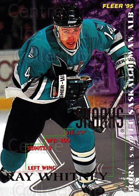 1994-95 Fleer #202 Ray Whitney<br/>4 In Stock - $1.00 each - <a href=https://centericecollectibles.foxycart.com/cart?name=1994-95%20Fleer%20%23202%20Ray%20Whitney...&quantity_max=4&price=$1.00&code=231818 class=foxycart> Buy it now! </a>