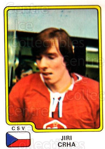 1979 Panini Stickers #75 Jiri Crha<br/>1 In Stock - $3.00 each - <a href=https://centericecollectibles.foxycart.com/cart?name=1979%20Panini%20Stickers%20%2375%20Jiri%20Crha...&quantity_max=1&price=$3.00&code=231981 class=foxycart> Buy it now! </a>
