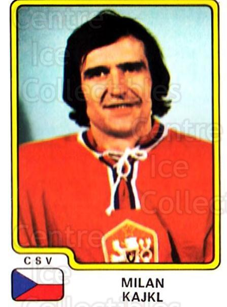 1979 Panini Stickers #77 Milan Kajki<br/>5 In Stock - $2.00 each - <a href=https://centericecollectibles.foxycart.com/cart?name=1979%20Panini%20Stickers%20%2377%20Milan%20Kajki...&quantity_max=5&price=$2.00&code=231983 class=foxycart> Buy it now! </a>