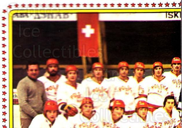1979 Panini Stickers #114 Team Poland, Team Photo<br/>9 In Stock - $2.00 each - <a href=https://centericecollectibles.foxycart.com/cart?name=1979%20Panini%20Stickers%20%23114%20Team%20Poland,%20Te...&quantity_max=9&price=$2.00&code=232020 class=foxycart> Buy it now! </a>