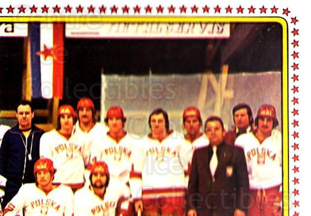 1979 Panini Stickers #115 Team Poland, Team Photo<br/>8 In Stock - $2.00 each - <a href=https://centericecollectibles.foxycart.com/cart?name=1979%20Panini%20Stickers%20%23115%20Team%20Poland,%20Te...&quantity_max=8&price=$2.00&code=232021 class=foxycart> Buy it now! </a>