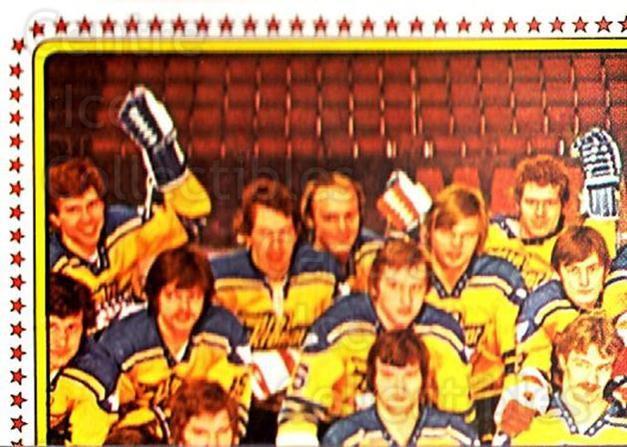 1979 Panini Stickers #180 Team Sweden, Team Photo<br/>7 In Stock - $2.00 each - <a href=https://centericecollectibles.foxycart.com/cart?name=1979%20Panini%20Stickers%20%23180%20Team%20Sweden,%20Te...&quantity_max=7&price=$2.00&code=232086 class=foxycart> Buy it now! </a>