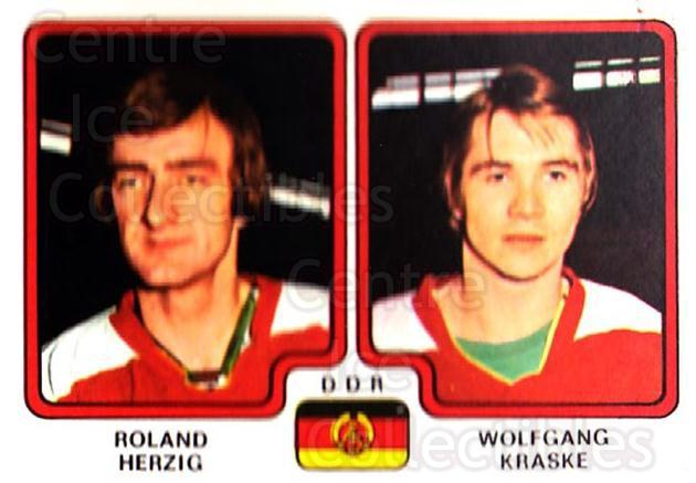 1979 Panini Stickers #249 Roland Herzig, Wolfgang Kraske<br/>1 In Stock - $2.00 each - <a href=https://centericecollectibles.foxycart.com/cart?name=1979%20Panini%20Stickers%20%23249%20Roland%20Herzig,%20...&quantity_max=1&price=$2.00&code=232155 class=foxycart> Buy it now! </a>