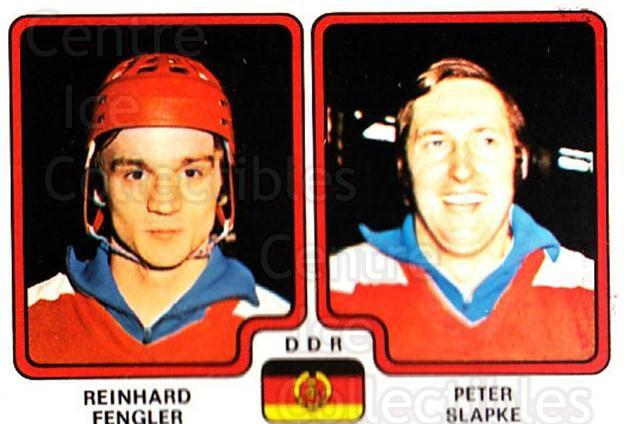 1979 Panini Stickers #252 Reinhard Fengler, Peter Slapke<br/>3 In Stock - $2.00 each - <a href=https://centericecollectibles.foxycart.com/cart?name=1979%20Panini%20Stickers%20%23252%20Reinhard%20Fengle...&quantity_max=3&price=$2.00&code=232158 class=foxycart> Buy it now! </a>