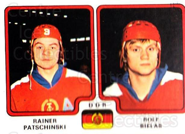 1979 Panini Stickers #253 Rainer Patschinski, Rolf Bielas<br/>5 In Stock - $2.00 each - <a href=https://centericecollectibles.foxycart.com/cart?name=1979%20Panini%20Stickers%20%23253%20Rainer%20Patschin...&quantity_max=5&price=$2.00&code=232159 class=foxycart> Buy it now! </a>