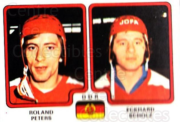 1979 Panini Stickers #254 Roland Peters, Eckhard Scholz<br/>6 In Stock - $2.00 each - <a href=https://centericecollectibles.foxycart.com/cart?name=1979%20Panini%20Stickers%20%23254%20Roland%20Peters,%20...&quantity_max=6&price=$2.00&code=232160 class=foxycart> Buy it now! </a>