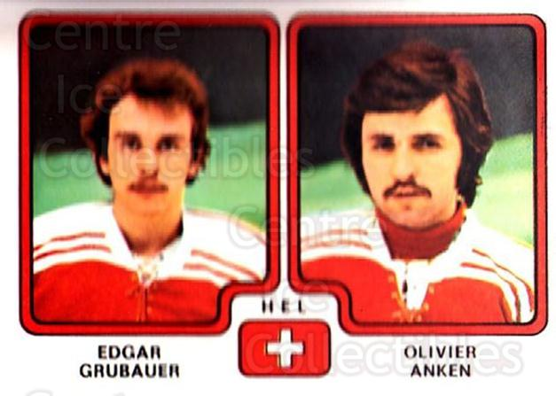 1979 Panini Stickers #258 Edgar Grubauer, Olivier Anken<br/>9 In Stock - $2.00 each - <a href=https://centericecollectibles.foxycart.com/cart?name=1979%20Panini%20Stickers%20%23258%20Edgar%20Grubauer,...&quantity_max=9&price=$2.00&code=232164 class=foxycart> Buy it now! </a>