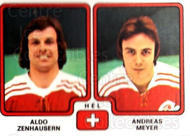 1979 Panini Stickers #259 Aldo Zenhausern, Andreas Meyer<br/>10 In Stock - $2.00 each - <a href=https://centericecollectibles.foxycart.com/cart?name=1979%20Panini%20Stickers%20%23259%20Aldo%20Zenhausern...&quantity_max=10&price=$2.00&code=232165 class=foxycart> Buy it now! </a>