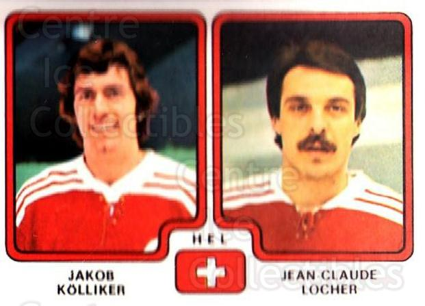 1979 Panini Stickers #260 Jakob Kolliker, Jean-Claude Locher<br/>2 In Stock - $2.00 each - <a href=https://centericecollectibles.foxycart.com/cart?name=1979%20Panini%20Stickers%20%23260%20Jakob%20Kolliker,...&quantity_max=2&price=$2.00&code=232166 class=foxycart> Buy it now! </a>