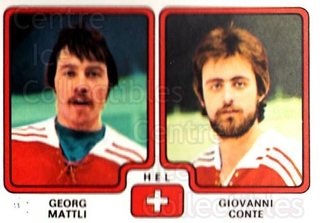 1979 Panini Stickers #261 Georg Mattli, Giovanni Conte<br/>9 In Stock - $2.00 each - <a href=https://centericecollectibles.foxycart.com/cart?name=1979%20Panini%20Stickers%20%23261%20Georg%20Mattli,%20G...&quantity_max=9&price=$2.00&code=232167 class=foxycart> Buy it now! </a>