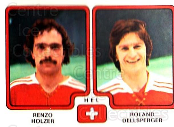 1979 Panini Stickers #262 Renzo Holzer, Roland Dellsperger<br/>8 In Stock - $2.00 each - <a href=https://centericecollectibles.foxycart.com/cart?name=1979%20Panini%20Stickers%20%23262%20Renzo%20Holzer,%20R...&quantity_max=8&price=$2.00&code=232168 class=foxycart> Buy it now! </a>