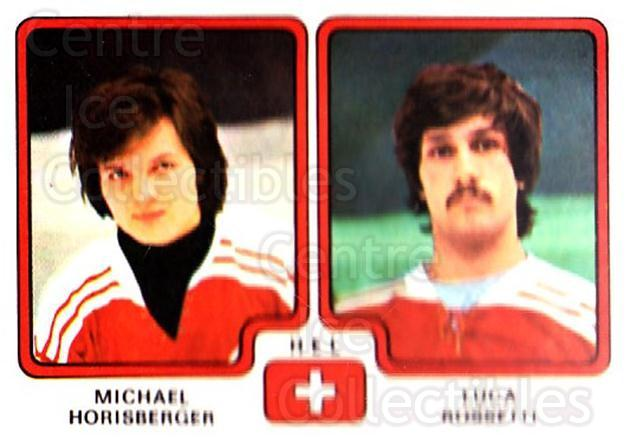 1979 Panini Stickers #263 Michael Horisberger, Luca Rossetti<br/>11 In Stock - $2.00 each - <a href=https://centericecollectibles.foxycart.com/cart?name=1979%20Panini%20Stickers%20%23263%20Michael%20Horisbe...&quantity_max=11&price=$2.00&code=232169 class=foxycart> Buy it now! </a>