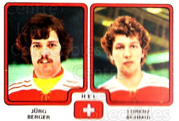 1979 Panini Stickers #264 Jurg Berger, Lorenz Schmid<br/>10 In Stock - $2.00 each - <a href=https://centericecollectibles.foxycart.com/cart?name=1979%20Panini%20Stickers%20%23264%20Jurg%20Berger,%20Lo...&quantity_max=10&price=$2.00&code=232170 class=foxycart> Buy it now! </a>