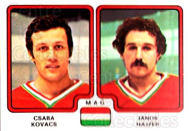 1979 Panini Stickers #268 Csaba Kovacs, Janos Hajzer<br/>9 In Stock - $2.00 each - <a href=https://centericecollectibles.foxycart.com/cart?name=1979%20Panini%20Stickers%20%23268%20Csaba%20Kovacs,%20J...&quantity_max=9&price=$2.00&code=232174 class=foxycart> Buy it now! </a>