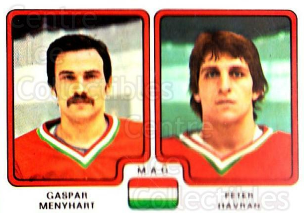 1979 Panini Stickers #271 Gaspar Menyhart, Peter Havran<br/>8 In Stock - $2.00 each - <a href=https://centericecollectibles.foxycart.com/cart?name=1979%20Panini%20Stickers%20%23271%20Gaspar%20Menyhart...&quantity_max=8&price=$2.00&code=232177 class=foxycart> Buy it now! </a>
