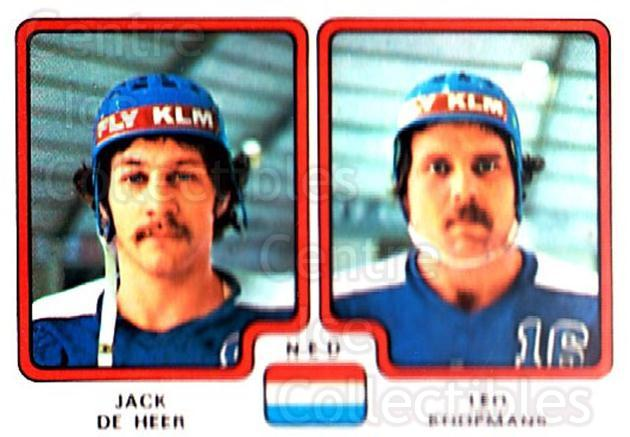 1979 Panini Stickers #282 Jack De Heer, Leo Koopmans<br/>2 In Stock - $2.00 each - <a href=https://centericecollectibles.foxycart.com/cart?name=1979%20Panini%20Stickers%20%23282%20Jack%20De%20Heer,%20L...&quantity_max=2&price=$2.00&code=232188 class=foxycart> Buy it now! </a>