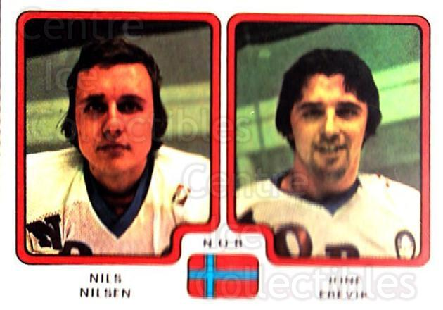 1979 Panini Stickers #296 Nils Nilsen, Jone Erevik<br/>5 In Stock - $2.00 each - <a href=https://centericecollectibles.foxycart.com/cart?name=1979%20Panini%20Stickers%20%23296%20Nils%20Nilsen,%20Jo...&quantity_max=5&price=$2.00&code=232202 class=foxycart> Buy it now! </a>