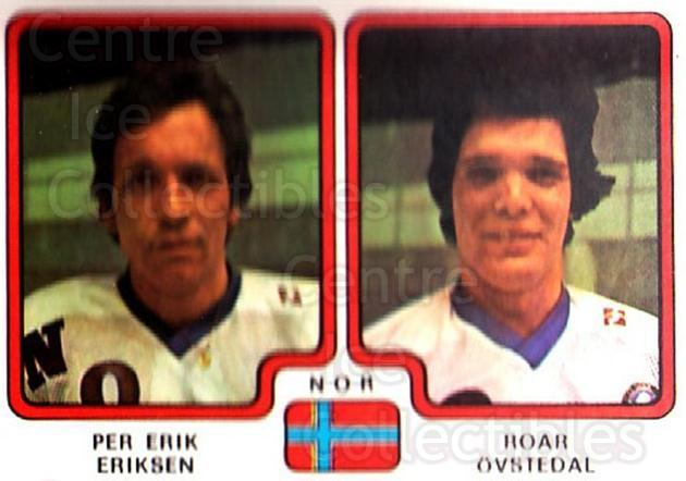 1979 Panini Stickers #298 Per Erik Eriksen, Roar Ovstedal<br/>7 In Stock - $2.00 each - <a href=https://centericecollectibles.foxycart.com/cart?name=1979%20Panini%20Stickers%20%23298%20Per%20Erik%20Erikse...&quantity_max=7&price=$2.00&code=232204 class=foxycart> Buy it now! </a>