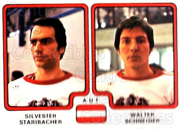 1979 Panini Stickers #305 Silvester Staribacher, Walter Schneider<br/>6 In Stock - $2.00 each - <a href=https://centericecollectibles.foxycart.com/cart?name=1979%20Panini%20Stickers%20%23305%20Silvester%20Stari...&quantity_max=6&price=$2.00&code=232211 class=foxycart> Buy it now! </a>