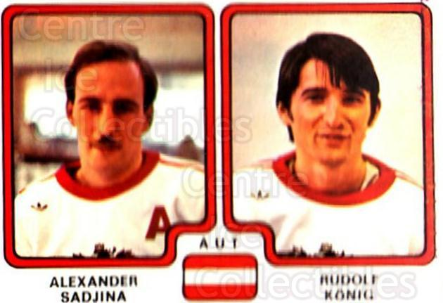 1979 Panini Stickers #307 Alexander Sadjina, Rudolf Konig<br/>7 In Stock - $2.00 each - <a href=https://centericecollectibles.foxycart.com/cart?name=1979%20Panini%20Stickers%20%23307%20Alexander%20Sadji...&quantity_max=7&price=$2.00&code=232213 class=foxycart> Buy it now! </a>