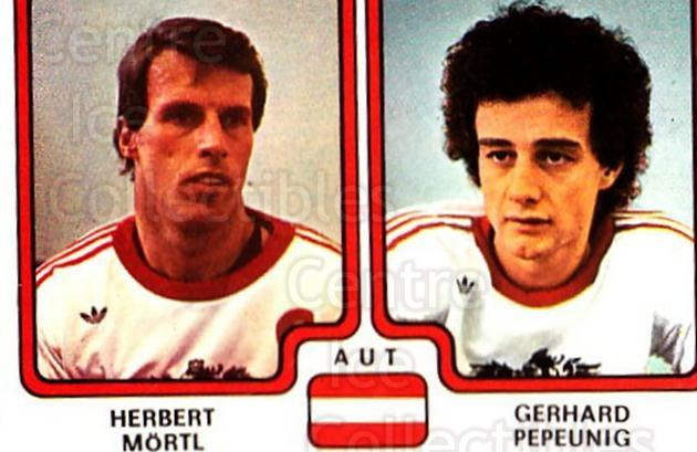 1979 Panini Stickers #308 Herbert Mortl, Gerhard Pepeunig<br/>8 In Stock - $2.00 each - <a href=https://centericecollectibles.foxycart.com/cart?name=1979%20Panini%20Stickers%20%23308%20Herbert%20Mortl,%20...&quantity_max=8&price=$2.00&code=232214 class=foxycart> Buy it now! </a>
