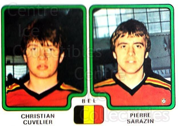 1979 Panini Stickers #341 Christian Cuvelier, Pierre Sarazin<br/>8 In Stock - $2.00 each - <a href=https://centericecollectibles.foxycart.com/cart?name=1979%20Panini%20Stickers%20%23341%20Christian%20Cuvel...&quantity_max=8&price=$2.00&code=232247 class=foxycart> Buy it now! </a>