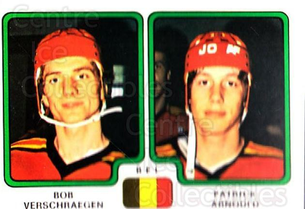1979 Panini Stickers #343 Bob Verschraegen, Patrick Arnould<br/>11 In Stock - $2.00 each - <a href=https://centericecollectibles.foxycart.com/cart?name=1979%20Panini%20Stickers%20%23343%20Bob%20Verschraege...&quantity_max=11&price=$2.00&code=232249 class=foxycart> Buy it now! </a>