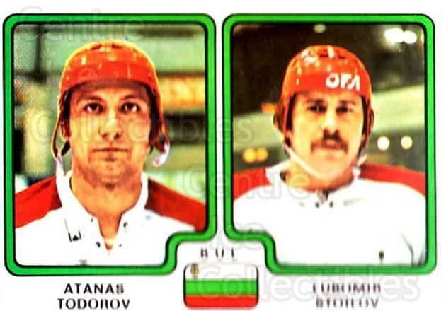 1979 Panini Stickers #351 Atanas Todorov, Lubomir Stoilov<br/>10 In Stock - $2.00 each - <a href=https://centericecollectibles.foxycart.com/cart?name=1979%20Panini%20Stickers%20%23351%20Atanas%20Todorov,...&quantity_max=10&price=$2.00&code=232257 class=foxycart> Buy it now! </a>