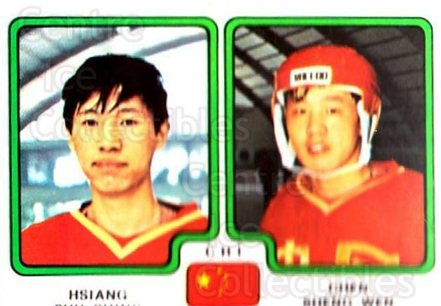 1979 Panini Stickers #360 Hsiang Shu Ching, Chen Sheng Wen<br/>6 In Stock - $2.00 each - <a href=https://centericecollectibles.foxycart.com/cart?name=1979%20Panini%20Stickers%20%23360%20Hsiang%20Shu%20Chin...&price=$2.00&code=232266 class=foxycart> Buy it now! </a>