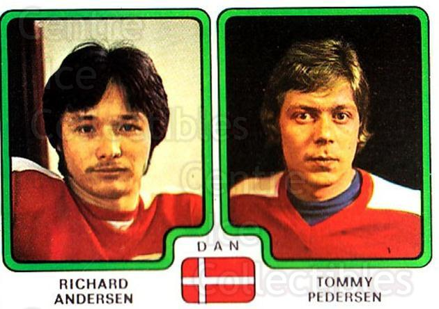1979 Panini Stickers #364 Richard Andersen, Tommy Pedersen<br/>8 In Stock - $2.00 each - <a href=https://centericecollectibles.foxycart.com/cart?name=1979%20Panini%20Stickers%20%23364%20Richard%20Anderse...&quantity_max=8&price=$2.00&code=232270 class=foxycart> Buy it now! </a>
