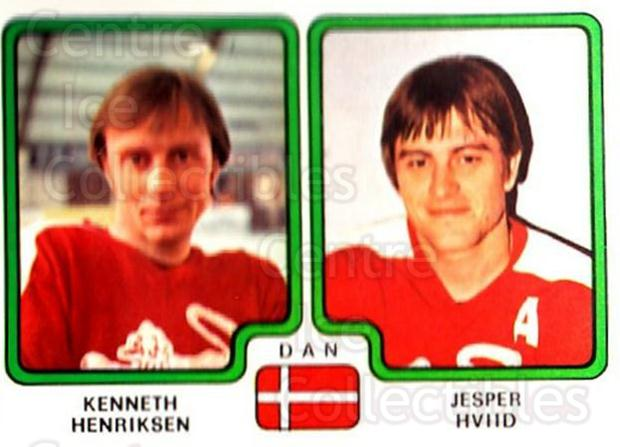 1979 Panini Stickers #365 Kenneth Henriksen, Jesper Hviid<br/>9 In Stock - $2.00 each - <a href=https://centericecollectibles.foxycart.com/cart?name=1979%20Panini%20Stickers%20%23365%20Kenneth%20Henriks...&quantity_max=9&price=$2.00&code=232271 class=foxycart> Buy it now! </a>