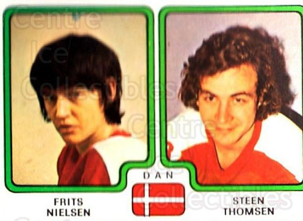 1979 Panini Stickers #366 Frits Nielsen, Steen Thomsen<br/>7 In Stock - $2.00 each - <a href=https://centericecollectibles.foxycart.com/cart?name=1979%20Panini%20Stickers%20%23366%20Frits%20Nielsen,%20...&quantity_max=7&price=$2.00&code=232272 class=foxycart> Buy it now! </a>