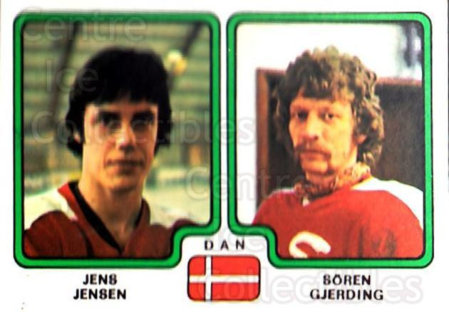 1979 Panini Stickers #368 Jens Jensen, Soren Gjerding<br/>9 In Stock - $2.00 each - <a href=https://centericecollectibles.foxycart.com/cart?name=1979%20Panini%20Stickers%20%23368%20Jens%20Jensen,%20So...&quantity_max=9&price=$2.00&code=232274 class=foxycart> Buy it now! </a>