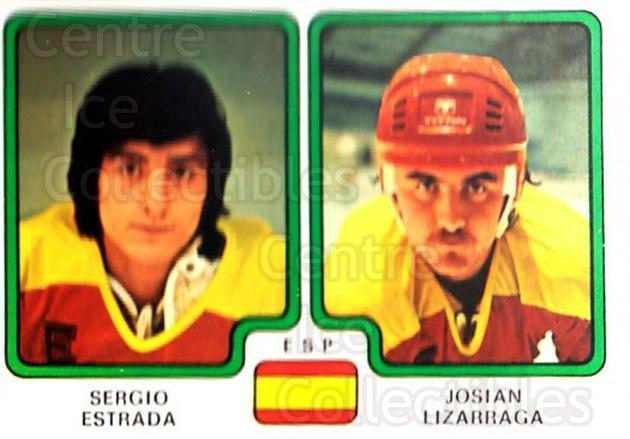 1979 Panini Stickers #371 Sergio Estrada, Josian Lizarraga<br/>11 In Stock - $2.00 each - <a href=https://centericecollectibles.foxycart.com/cart?name=1979%20Panini%20Stickers%20%23371%20Sergio%20Estrada,...&quantity_max=11&price=$2.00&code=232277 class=foxycart> Buy it now! </a>
