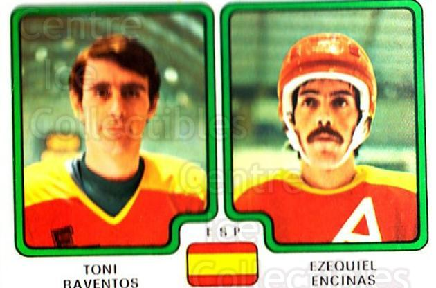 1979 Panini Stickers #374 Toni Raventos, Ezequiel Encinas<br/>9 In Stock - $2.00 each - <a href=https://centericecollectibles.foxycart.com/cart?name=1979%20Panini%20Stickers%20%23374%20Toni%20Raventos,%20...&quantity_max=9&price=$2.00&code=232280 class=foxycart> Buy it now! </a>