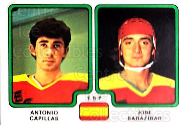 1979 Panini Stickers #375 Antonio Capillas, Jose Sarazibar<br/>9 In Stock - $2.00 each - <a href=https://centericecollectibles.foxycart.com/cart?name=1979%20Panini%20Stickers%20%23375%20Antonio%20Capilla...&quantity_max=9&price=$2.00&code=232281 class=foxycart> Buy it now! </a>