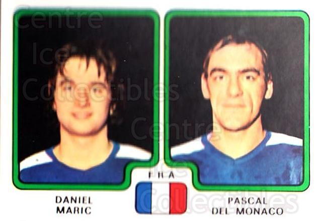 1979 Panini Stickers #379 Daniel Maric, Pascal Del Monaco<br/>5 In Stock - $2.00 each - <a href=https://centericecollectibles.foxycart.com/cart?name=1979%20Panini%20Stickers%20%23379%20Daniel%20Maric,%20P...&quantity_max=5&price=$2.00&code=232285 class=foxycart> Buy it now! </a>