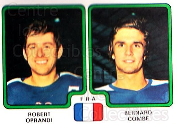 1979 Panini Stickers #380 Robert Oprandi, Bernard Combe<br/>4 In Stock - $2.00 each - <a href=https://centericecollectibles.foxycart.com/cart?name=1979%20Panini%20Stickers%20%23380%20Robert%20Oprandi,...&quantity_max=4&price=$2.00&code=232286 class=foxycart> Buy it now! </a>