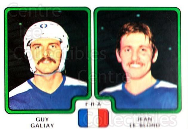 1979 Panini Stickers #383 Guy Galiay, Jean Le Blond<br/>5 In Stock - $2.00 each - <a href=https://centericecollectibles.foxycart.com/cart?name=1979%20Panini%20Stickers%20%23383%20Guy%20Galiay,%20Jea...&quantity_max=5&price=$2.00&code=232289 class=foxycart> Buy it now! </a>