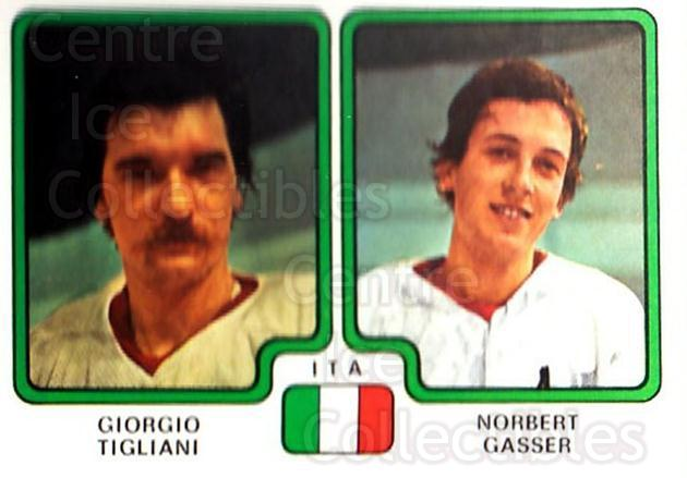 1979 Panini Stickers #387 Giorgio Tigliani, Norbert Gasser<br/>2 In Stock - $2.00 each - <a href=https://centericecollectibles.foxycart.com/cart?name=1979%20Panini%20Stickers%20%23387%20Giorgio%20Tiglian...&quantity_max=2&price=$2.00&code=232293 class=foxycart> Buy it now! </a>
